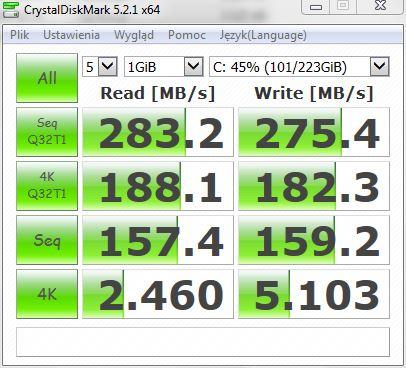 Goodram Iridium Pro SATA II Toshiba L650 Win 7.JPG
